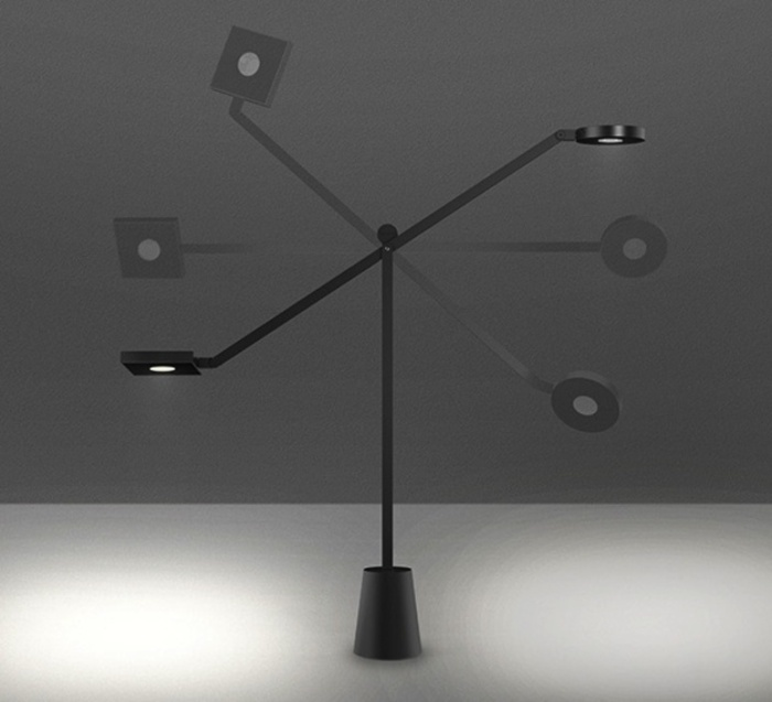 Lampe à poser, Equilibrist, noir, LED, H63cm, L85cm - Artemide