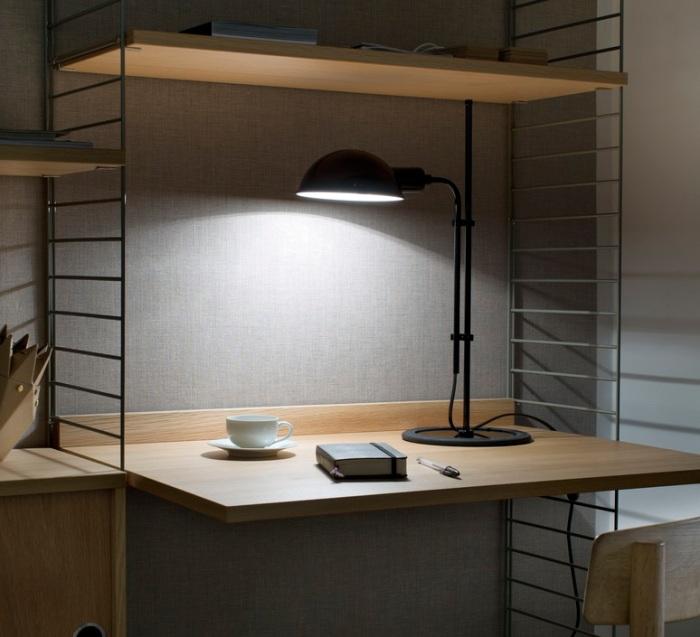 Lampe de bureau, Funiculi, noir, H50,3cm - Marset