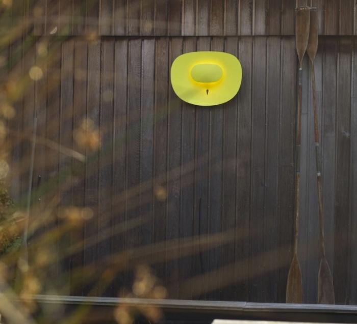pplique murale d'extérieur, Séléné, LED, horizontale, jaune, H50cm, L70cm - Artuce