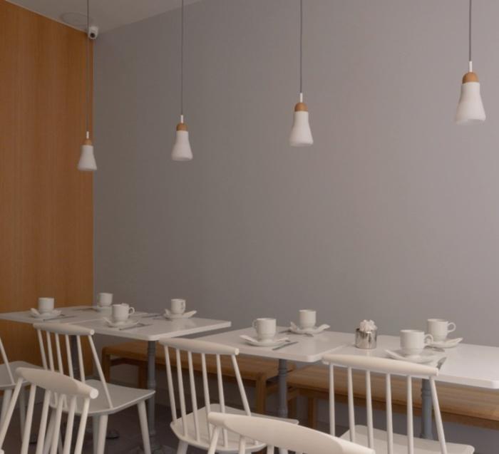 Suspension, Shadows, blanc, dimmable, H13,8cm, Ø10,8cm - Brokis