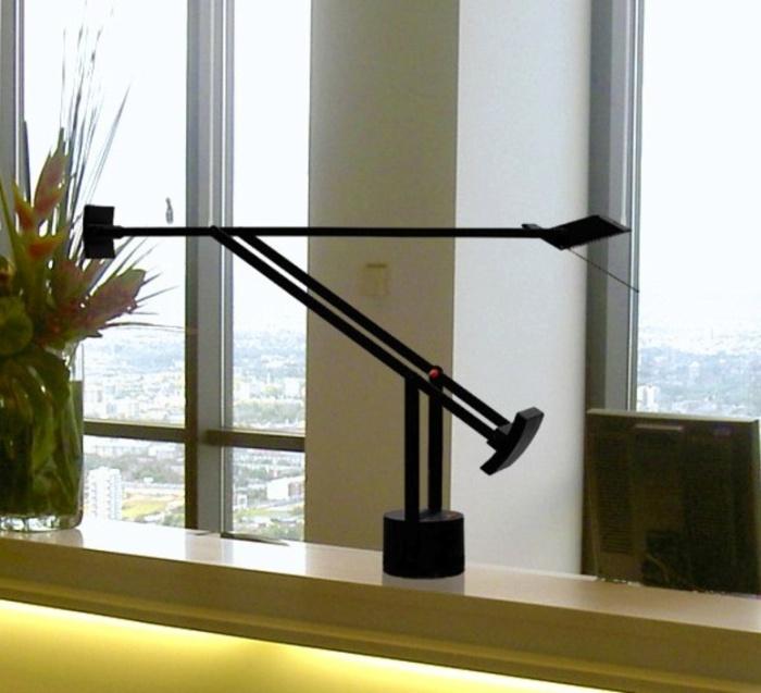 Lampe à poser, Tizio LED, dimmable, noir, H66cm, L78cm - Artemide