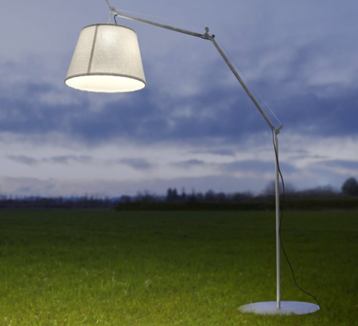 LAMPADAIRE D'EXTÉRIEUR, TOLOMEO PARALUME OUTDOOR, BLANC, H232CM, Ø60CM - ARTEMIDE