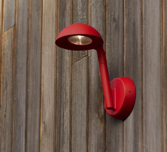 Applique murale d'extérieur, Tools Applique, rouge, H33,5cm, P30cm - Artuce