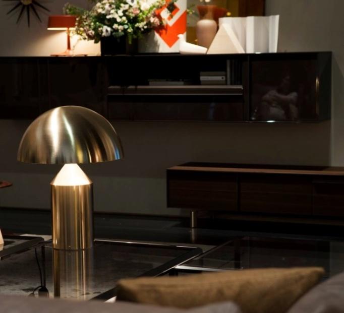 Lampe à poser, Atollo, or, H50cm