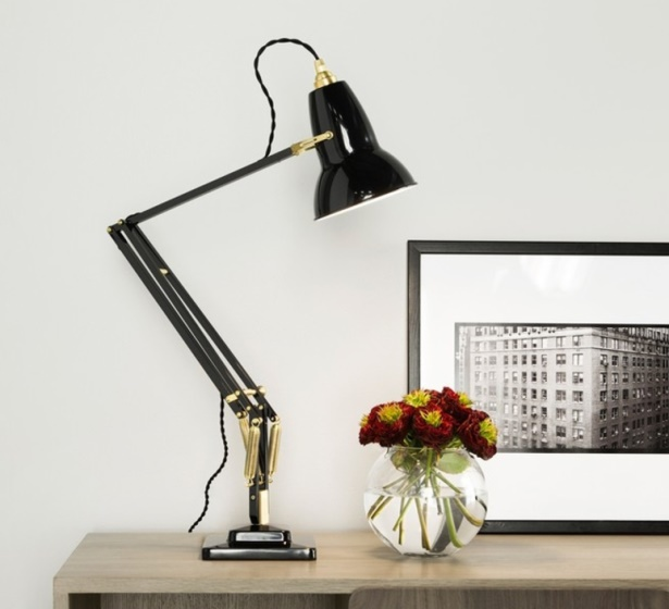 Lampe de bureau, Original 1227 Brass, gris foncé, H60cm - ANGLEPOISE