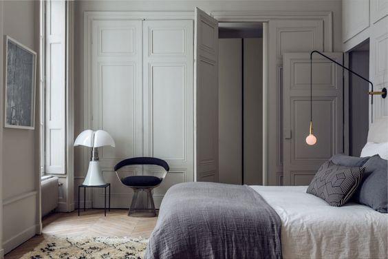 Lampe à poser, PIPISTRELLO, variateur LED, blanc, H86cm - Martinelli-luce