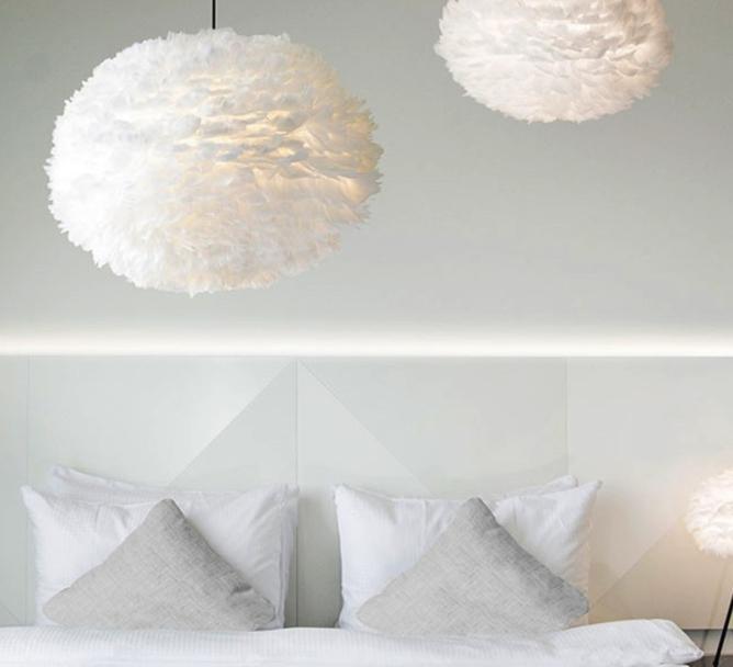 les suspensions blanches des luminaires minimalistes et purs pour un intrieur au style scandinave - Luminaire Style Scandinave