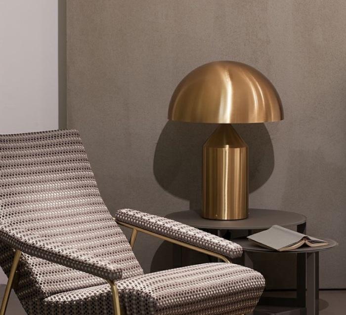 Lampe à poser, Atollo, or, H50cm - Oluce