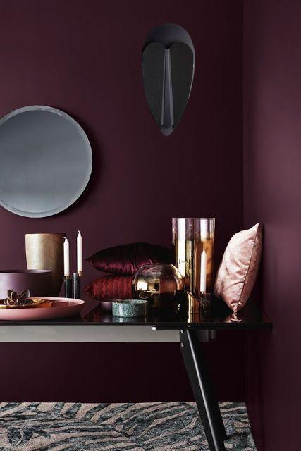 """Le violet, la couleur réconfortante et """"feel good"""" de l'hiver même chez les luminaires!"""