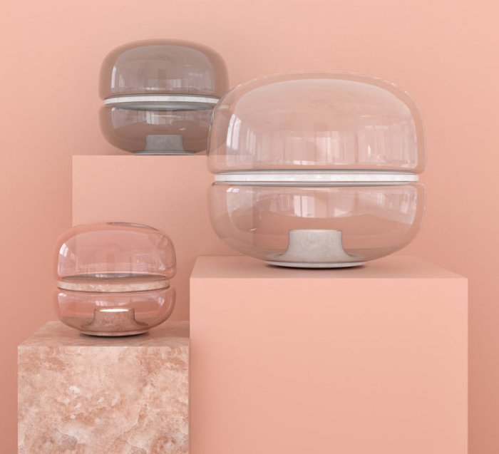 Les aériens luminaires en verre soufflé