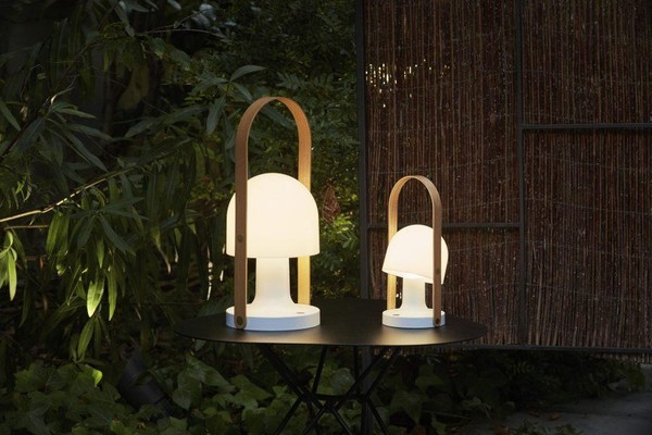 Lampe baladeuse, Follow me, sans fil, LED, blanc, H28,8cm - Marset