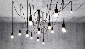 Suspension, Maman, noir, ampoules Satin, LED, Dimmable, Ø300cm - Seletti