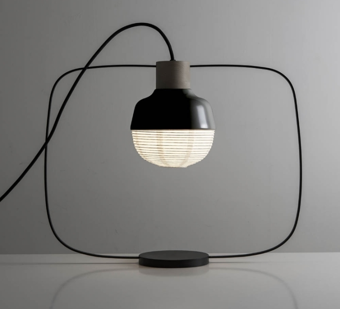 LAMPE À POSER, THE NEW OLD LIGHT - PLUMP, NOIR, LED, L46CM, H40CM - KIMU