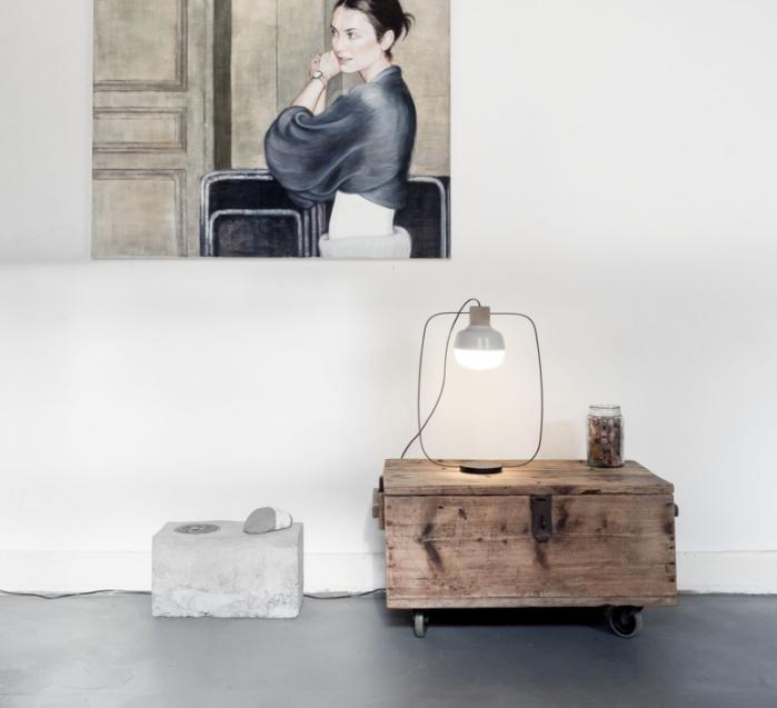 LAMPE À POSER, THE NEW OLD LIGHT - TALL, BLANC, LED, L30CM, H52CM - KIMU