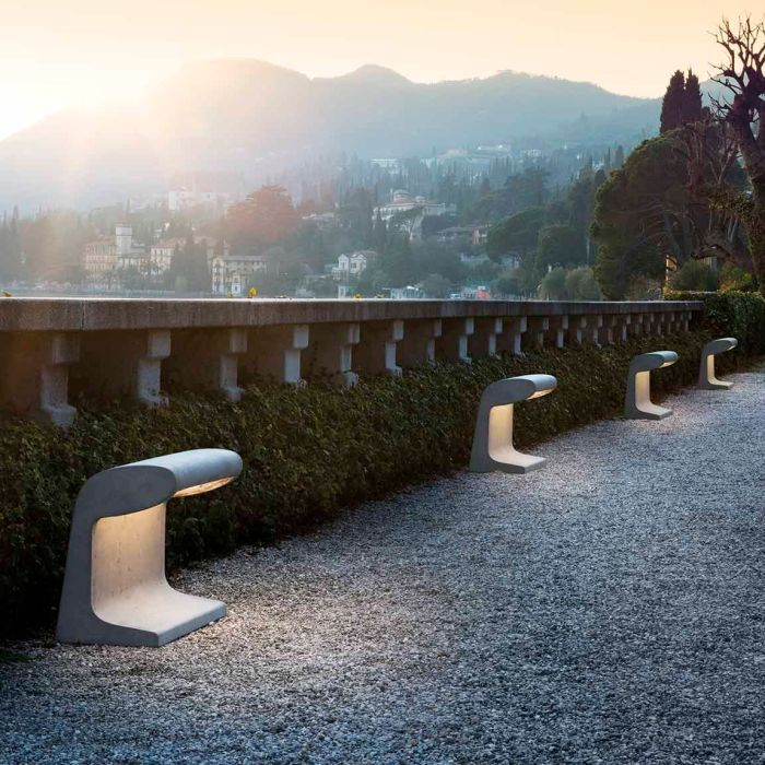 BORNE BÉTON, OUTDOOR, LED, 3000K, 3840LM, IP44, L50CM, H50CM - NEMO LIGHTING
