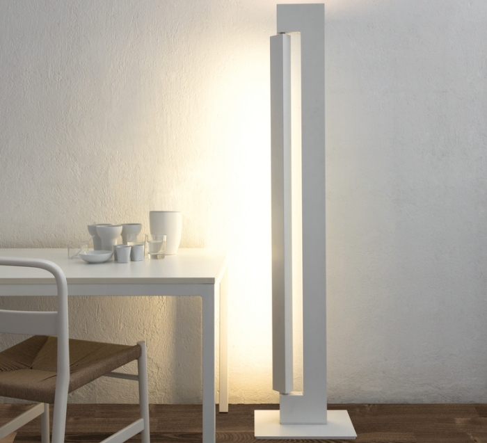 LAMPADAIRE, ARA, TOTAL BLANC, LED, 2700K/3000K, 2850LM/5200LM, L26,5CM, H178CM - NEMO LIGHTING