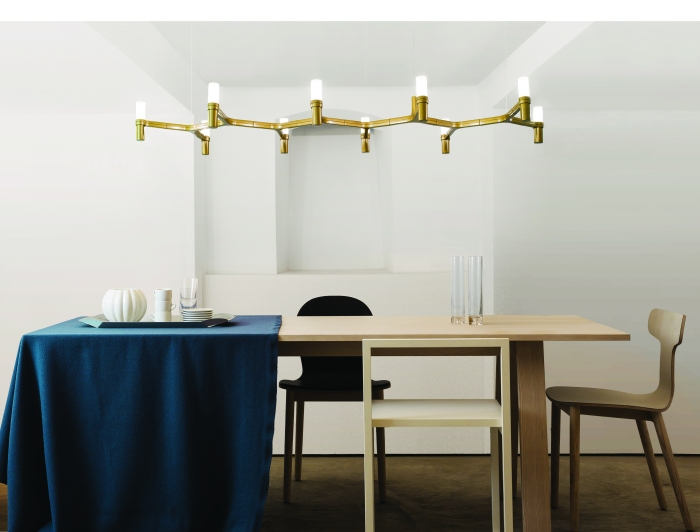 SUSPENSION, CROWN PLANA LINEA, OR, L168CM, H16CM - NEMO LIGHTING