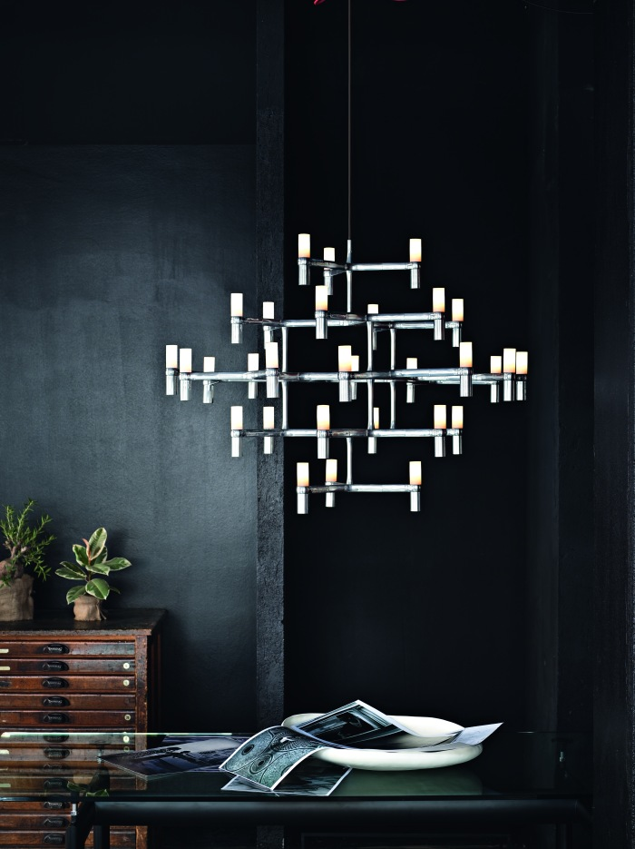SUSPENSION, CROWN MAJOR, ACIER POLI, L109CM, H87CM - NEMO LIGHTING