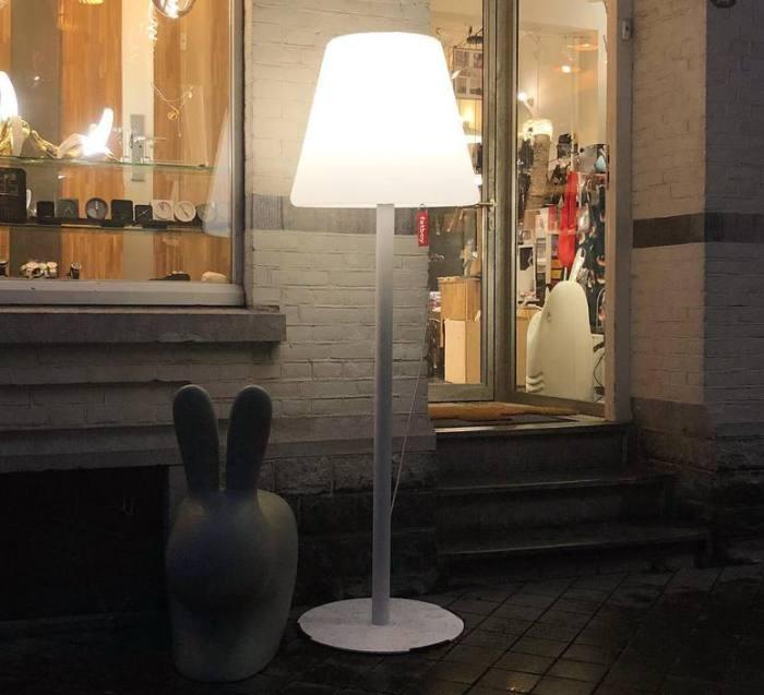 LAMPE À POSER, EDISON THE GIANT, BLANC, LED, IP 55, Ø58CM, H182CM - FATBOY