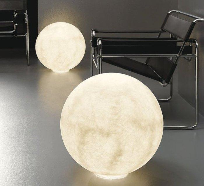 LAMPE À POSER AU SOL, FLOOR MOON 2, BLANC, Ø70CM, IN-ES.ARTDESIGN