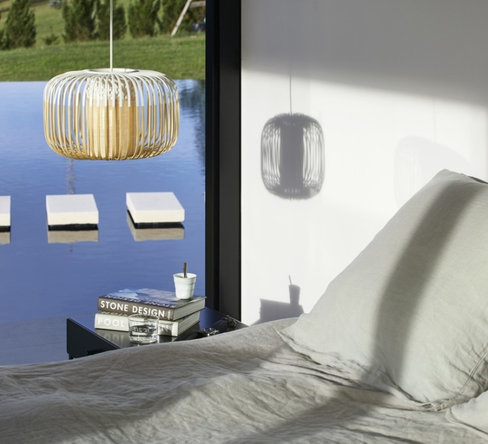 SUSPENSION, BAMBOO LIGHT S, BLANC, Ø35CM, H23CM - FORESTIER