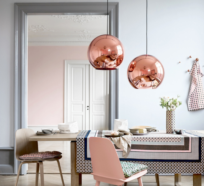 SUSPENSION, COPPER ROUND, CUIVRE, Ø45CM - TOM DIXON