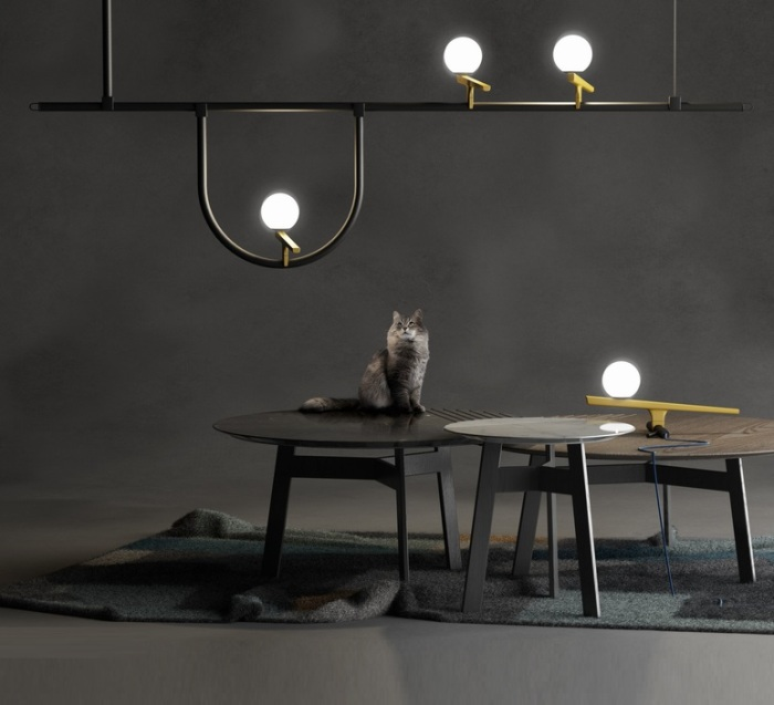 SUSPENSION, YANZI 1, NOIR, LED, L156CM, H31,5CM - ARTEMIDE