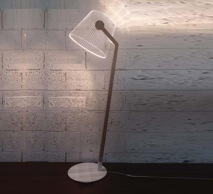 LAMPADAIRE ZIGGI B, BLANC, LED, H145CM, L48CM - STUDIO CHEHA