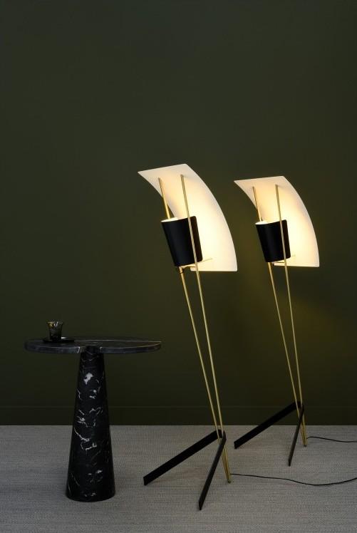 LAMPADAIRE, G30, DIMMABLE, NOIR ET BLANC, Ø43CM, H155CM - SAMMODE