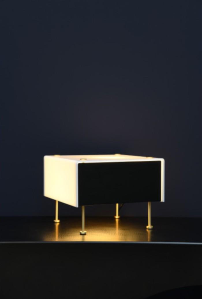 LAMPE À POSER, G60, DIMMABLE, NOIR ET BLANC, Ø33CM, H20CM - SAMMODE