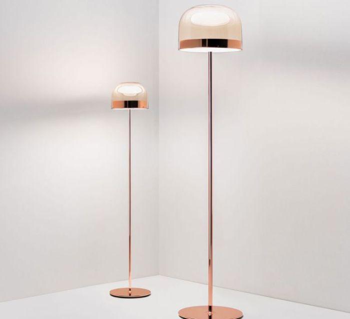 LAMPADAIRE, EQUATORE S, CUIVRE, LED, 2700K, 1770LM, Ø23,8CM, H135CM - FONTANA ARTE