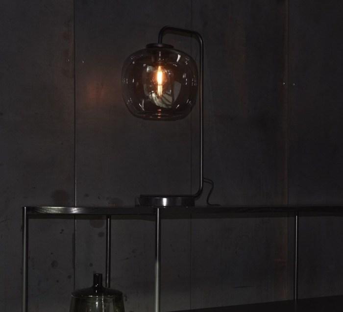 LAMPE À POSER, GRAPE, NOIR, Ø25CM, H58CM - BOLIA