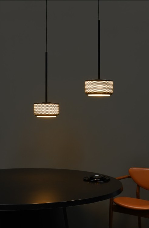 SUSPENSION, G13A, NOIR, DIMMABLE, Ø25CM, H15CM - SAMMODE