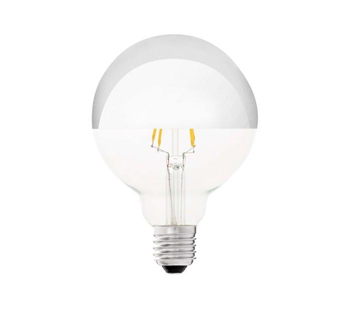 AMPOULE, E27, LED, FILAMENT, MIROIR, ARGENT, Ø9,5 CM, H12,8CM - FARO