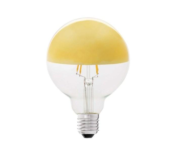 AMPOULE LED, E27, MIROIR, OR, 400LM, 2200K, Ø9,5 CM, H12,8CM - FARO