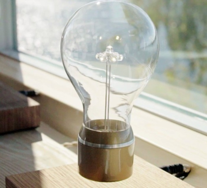 AMPOULE EN LÉVITATION, FLYTE, ROYAL 2.0, OR, LED, Ø12,6CM, H20CM - FLYTE