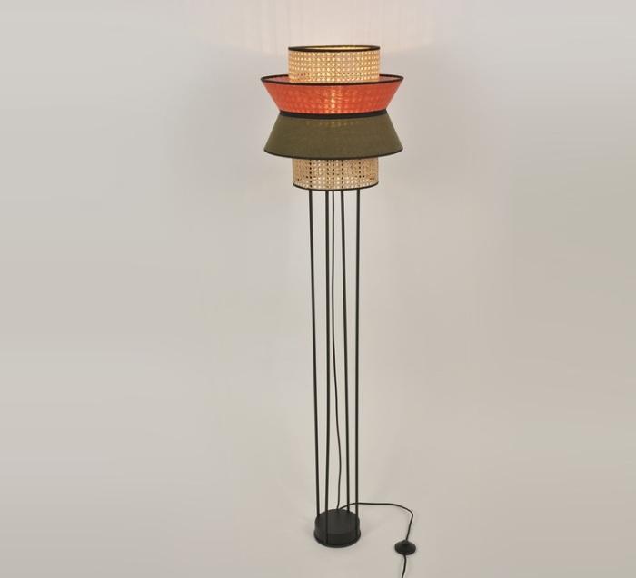 Les luminaires en cannage, inspirés de ce style art déco graphique, design et naturel