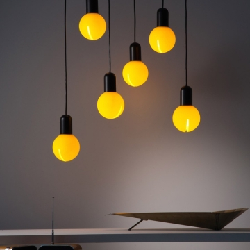 SUSPENSION, O!, JAUNE, H18CM - MARTINELLI-LUCE