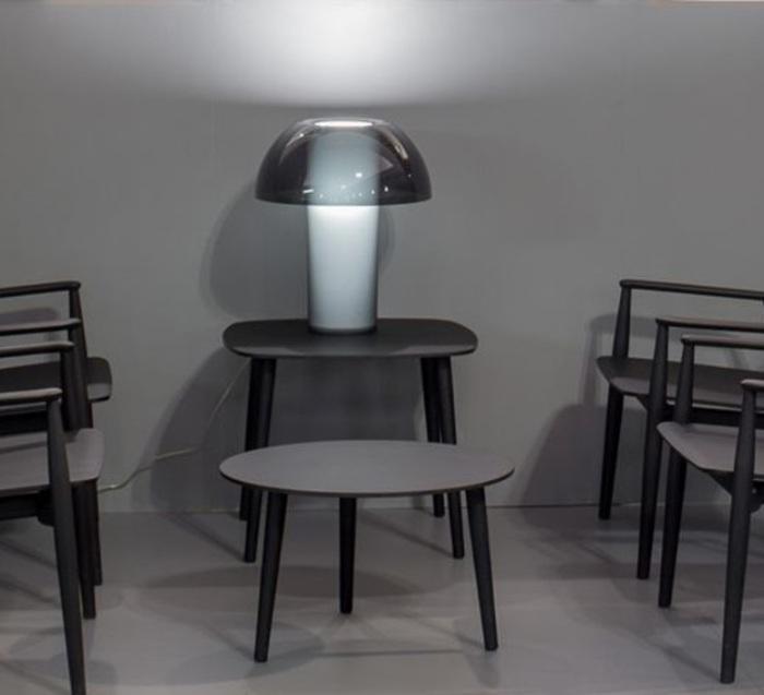 LAMPE À POSER, COLETTE 50, GRIS FUMÉ, Ø42CM, H49,5CM - PEDRALI