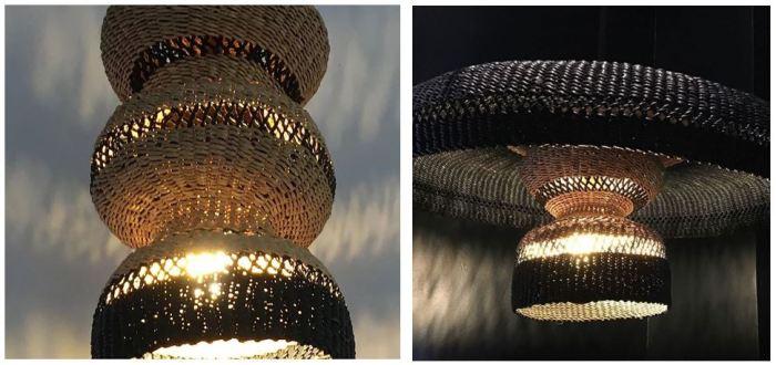 Suspension, 3 tier, naturel, L15cm, H31cm - GOLDEN Editions