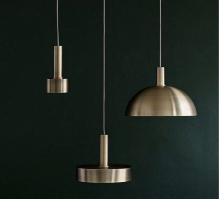 SUSPENSION, COLLECT LIGHTING, BRASS AND RECORD SHADE, LAITON, LED, Ø30CM, H24CM - FERM LIVING