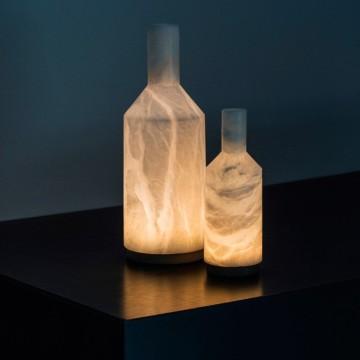LAMPE À POSER, ALABAST, ALBÂTRE, IP66 LED, 3000K, 290LM, Ø14CM, H39CM - CARPYEN