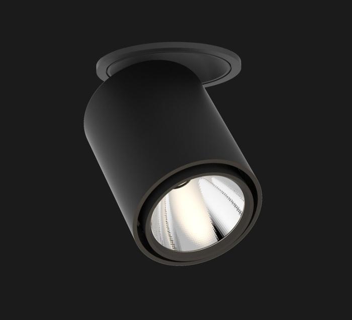 SPOT SEMI-ENCASTRÉ, ATLAS, NOIR, LED, 2700K, 1983LM, Ø9CM, H11CM - DOXIS