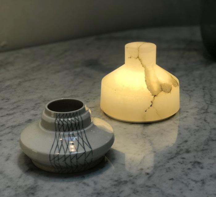 LAMPE À POSER, ALABAST, ALBÂTRE, IP66 LED, 3000K, 290LM, Ø13CM, H11CM - CARPYEN