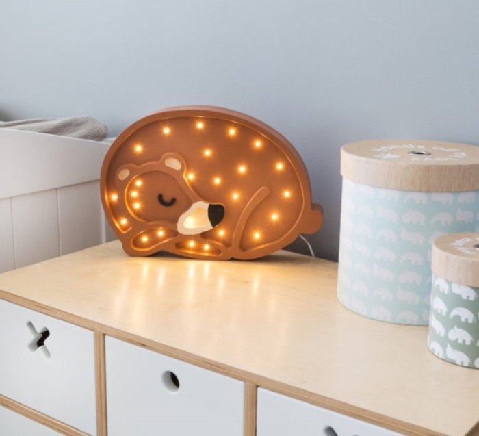 LAMPE À POSER ENFANT, BEAR, MARRON CHAUD, LED, L36CM, H26CM - LITTLE LIGHTS
