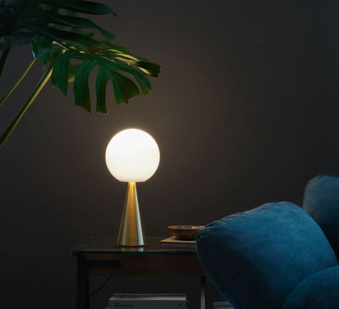LAMPE À POSER, BILIA, LAITON, H43CM, Ø 20CM, 9W ,LED, 950LM - FONTANA-ARTE