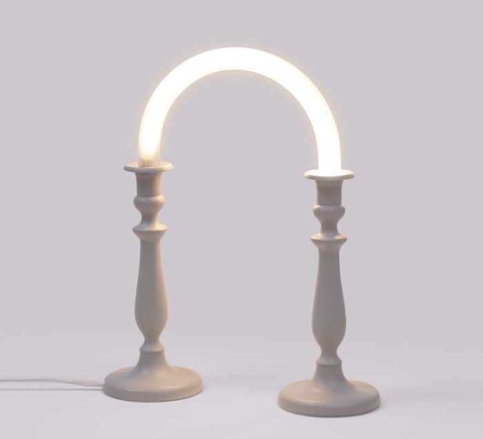 LAMPE À POSER, CANDLE TWIN, BLANC, LED, L31CM, H39CM - SELETTI