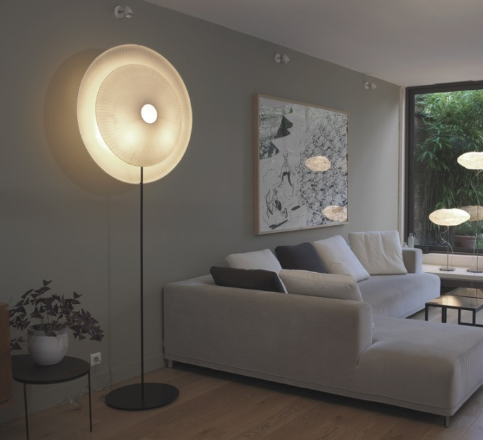 LAMPADAIRE, DIVA, BLANC, H170CM, Ø62CM - CELINE-WRIGHT