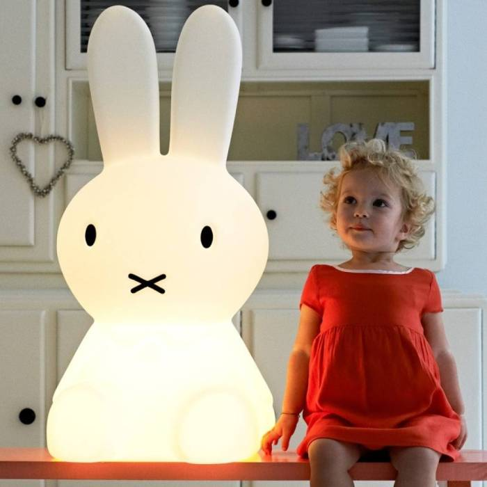 LAMPE LAPIN, ENFANTS, MIFFY XL, BLANC, H80CM - MR MARIA