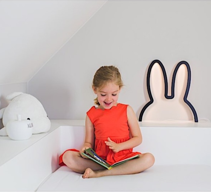 APPLIQUE MURALE, LAPIN, NIJN WOODEN WALL ART, NOIR, LED, L38CM, H40CM - ATELIER PIERRE